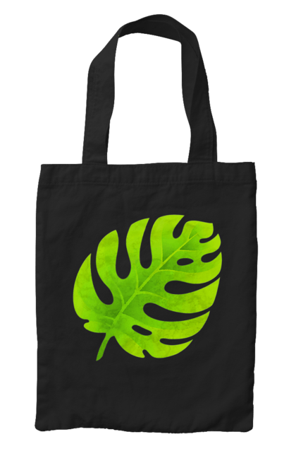 Сумка з принтом Зелений листочок 4. Зелений, листок, листочок. CustomPrint.market