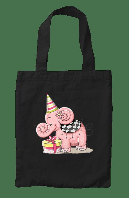 Сумка з принтом Слоник з подарунками. День народження, подарунки, слон, слоник. CustomPrint.market