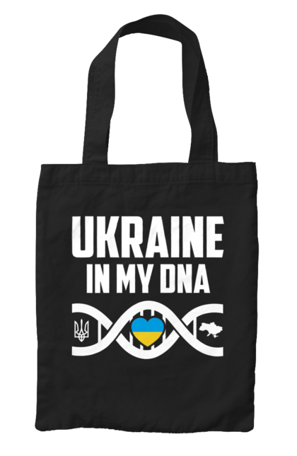 Сумка з принтом Україна ДНК. Герб, днк, серце, україна. CustomPrint.market