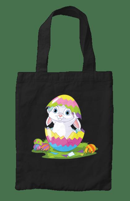 Сумка з принтом Великодній Зайка В Яйце. Зайчик, паска, фарбовані яйця. CustomPrint.market