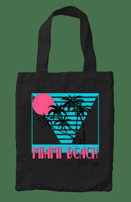 Сумка з принтом Майамі Пальми. Захід, майамі, пальми, флоріда. CustomPrint.market