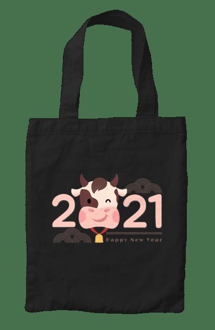 Сумка з принтом Рік бика 2021. 2 021, бик, новий рік. CustomPrint.market