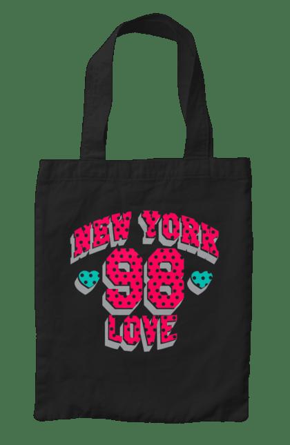 Сумка з принтом Нью Йорк 98. Градієнт, любов, нью-йорк. CustomPrint.market
