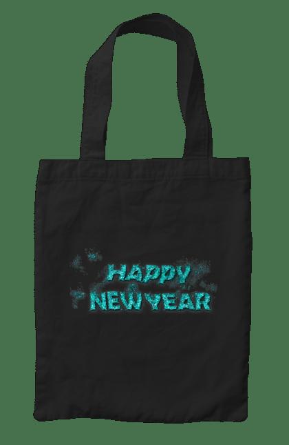 Сумка з принтом З новим роком!. Новий рік, побажання, привітання, свято. CustomPrint.market