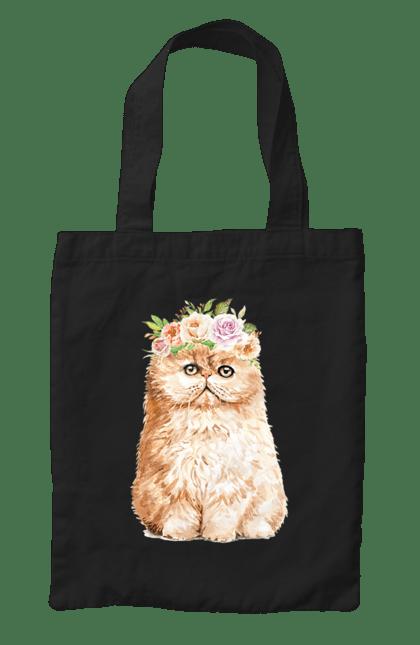 Сумка з принтом Руде котеня у вінку. Вінок, кіт, котеня, котик. CustomPrint.market