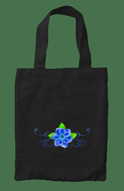 Сумка з принтом Синя квіточка. Квітка, квіточка, синій. CustomPrint.market
