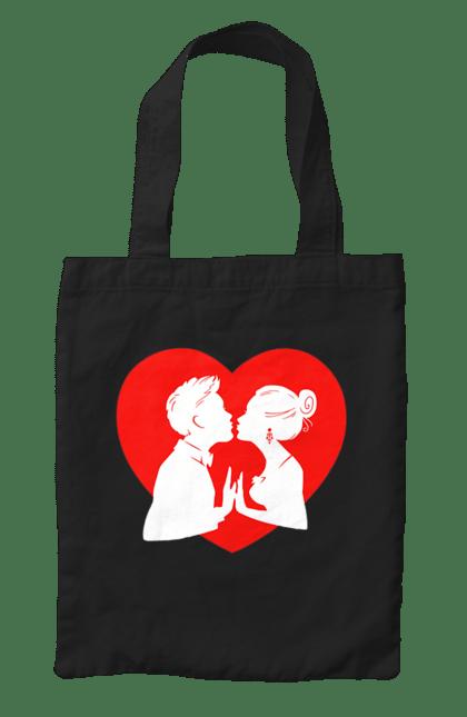 Сумка з принтом Закохана Пара В Серце. Закохана пара, любов, серце. CustomPrint.market