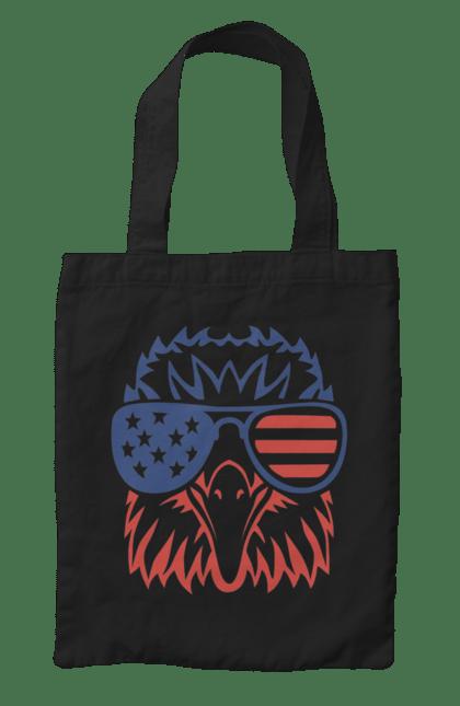 Сумка з принтом Патріот Орел. Америка, день незалежності, окуляри, орел, сша. CustomPrint.market
