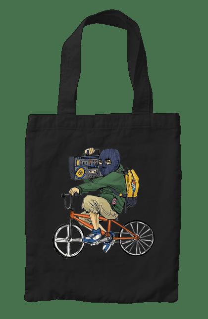 Сумка з принтом Злодій На Велосипеді. Велосипед, злодій, касетник. CustomPrint.market
