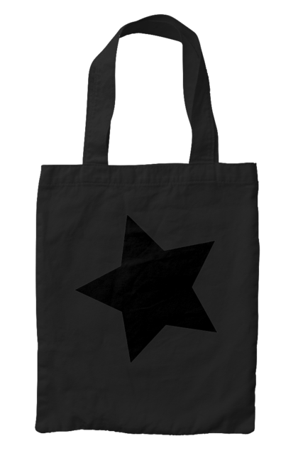 Сумка з принтом Чорна зірка. Зірка. CustomPrint.market
