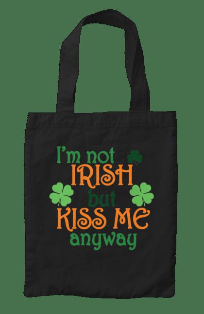 Сумка з принтом Я не ірландець, але все одно поцілуй мене. Ірландець, патрік, цілуй. CustomPrint.market