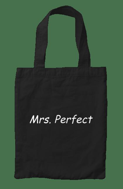 Сумка з принтом місіс досконалість. Досконалість, міс, парні, сімейні. CustomPrint.market