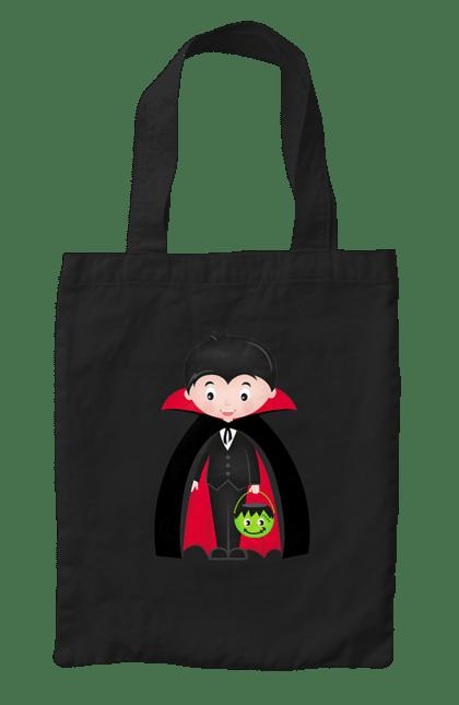 Сумка з принтом Малюк Дракула. Дракула, хелловін, хлопчик. CustomPrint.market