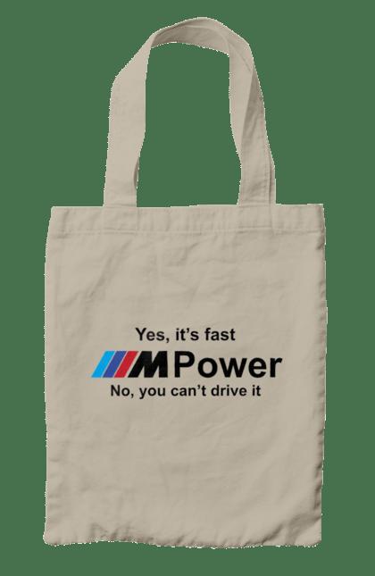 Сумка з принтом M power black BMW. Бмв, м серія. CustomPrint.market