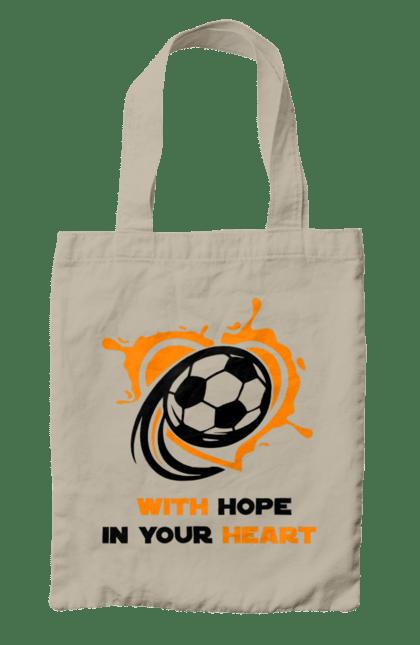 Сумка з принтом With hope in your heart. Футбол. BlackLine