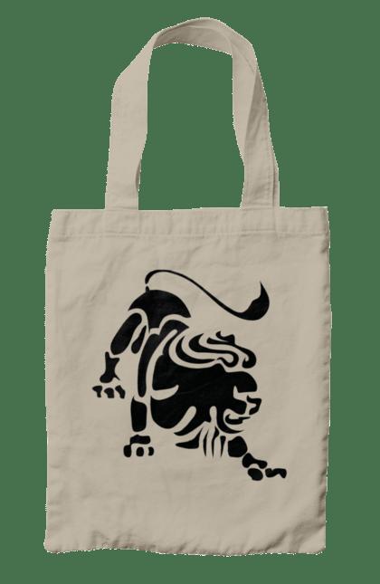 Сумка з принтом Лев знак зодіаку. Гороскоп, знак зодіаку, лев. CustomPrint.market