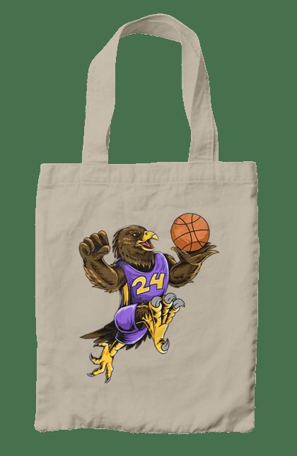 Сумка з принтом Орел Баскетболіст. Баскетболіст, орел, спорт, спортсмен. BlackLine