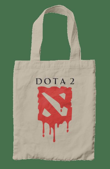 Сумка з принтом Dota 2 логотип. Dota 2, гра, логотип. CustomPrint.market