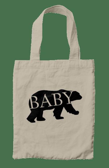 Сумка з принтом малюк ведмідь. Ведмідь, малюк, сімейні. CustomPrint.market