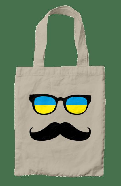 Сумка з принтом Україна окуляри. Вітчизна, вуса, окуляри, україна. CustomPrint.market