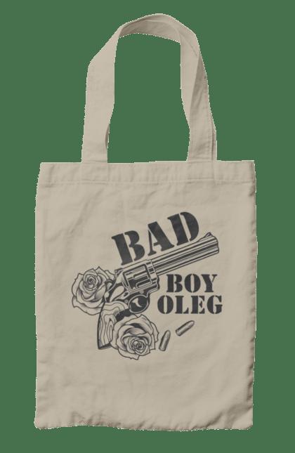 Сумка з принтом Олег. Олег, пістолет, хлопець. CustomPrint.market