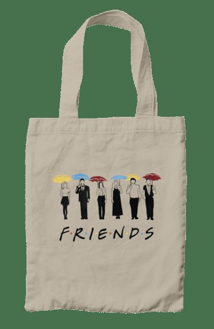 Сумка з принтом Френдс парасольки. З парасольками, заставка, напис, серіал, френдс. CustomPrint.market
