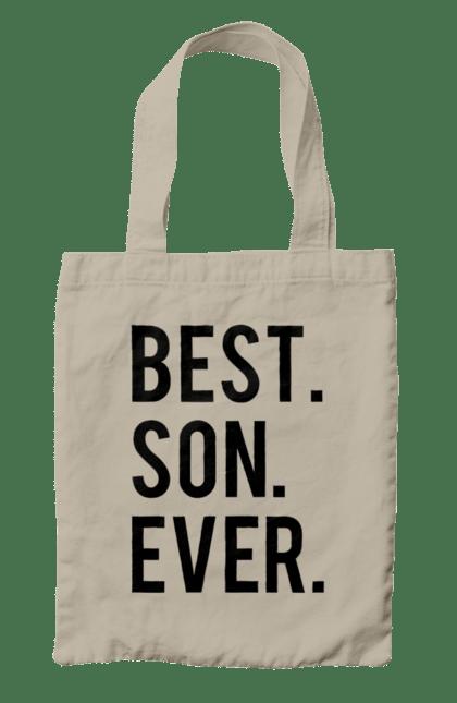 Сумка з принтом кращий син. Батько, кращий, мати, син, сімейні. CustomPrint.market