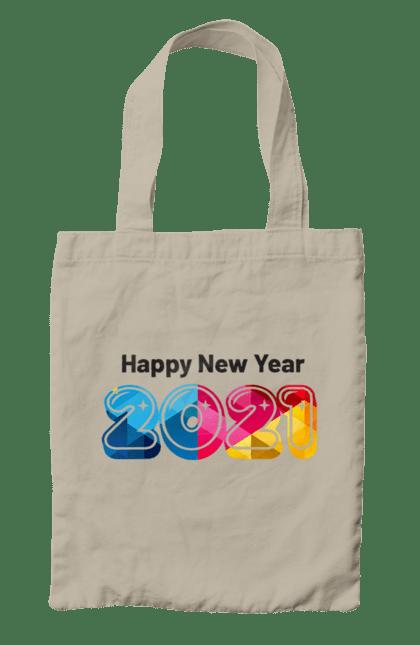 Сумка з принтом З новим 2021 роком. 2 021, новий рік, свято. CustomPrint.market