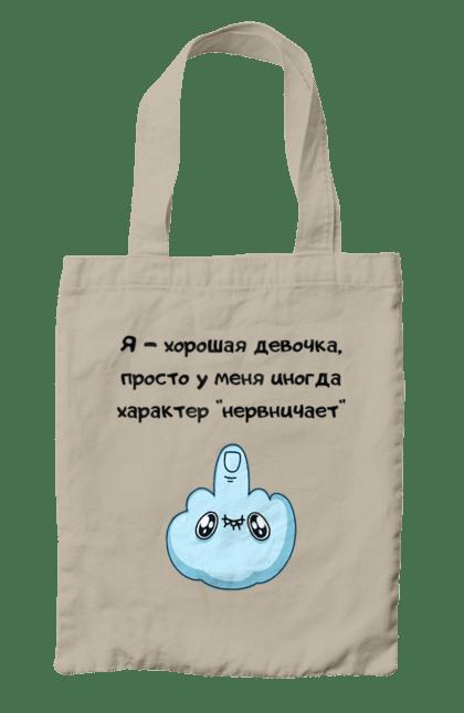 Сумка з принтом Хорошая Девочка Чорний CustomPrint.market