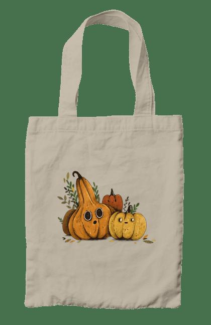 Сумка з принтом Гарбуз. Гарбуз, оранжевый, осень, осінь, помаранчевий, тыква, тыква, урожай, хелоуин, хелоуін, шопер. CustomPrint.market
