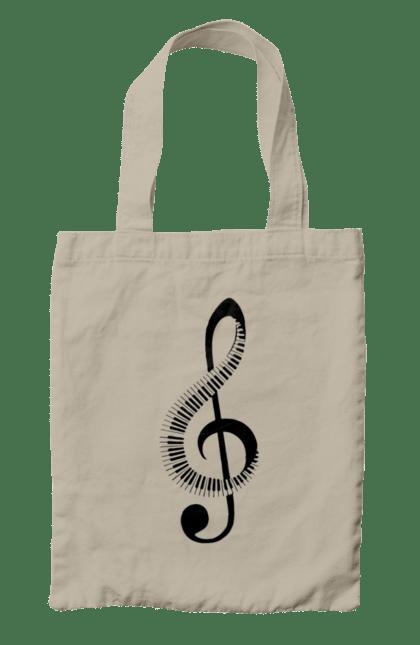 Сумка з принтом Музика, Скрипковий Ключ І Піаніно. Мелодія, музика, піаніно, скрипковий ключ. CustomPrint.market