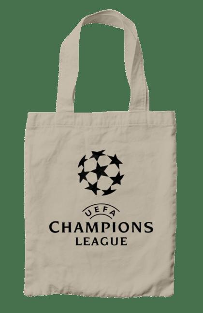 Сумка з принтом Ліга чемпіонів. Ліга чемпіонів, футбол. BlackLine