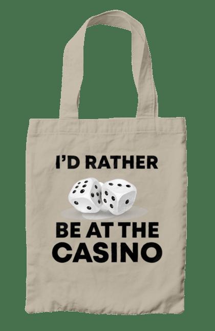 Сумка з принтом Rather Be. Виграш, казино, покер, фішки. CustomPrint.market