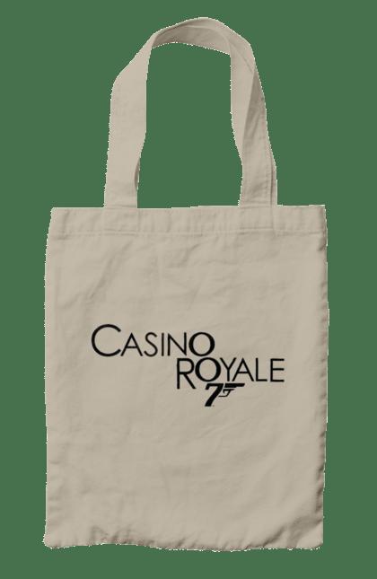 Сумка з принтом Casino Royale. Агент 007, джеймс бонд, карти, покер. CustomPrint.market