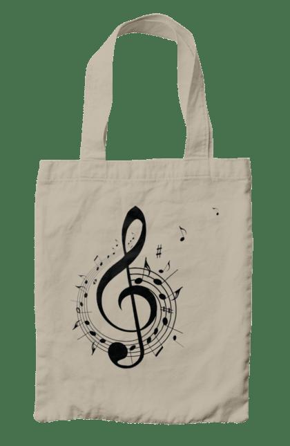 Сумка з принтом Музика, Скрипковий Ключ І Ноти. Мелодія, музика, ноти, скрипковий ключ. CustomPrint.market