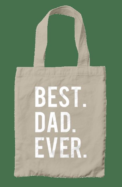 Сумка з принтом кращий тато. Батько, дочка, кращий, син. CustomPrint.market