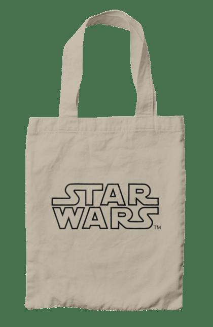 Сумка з принтом Star Wars Logo Black. Заставка, зоряні війни, лого, напис. CustomPrint.market