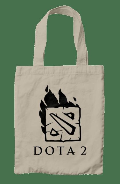 Сумка з принтом Dota 2 логотип. Dota, гра, дозвілля, логотип. CustomPrint.market
