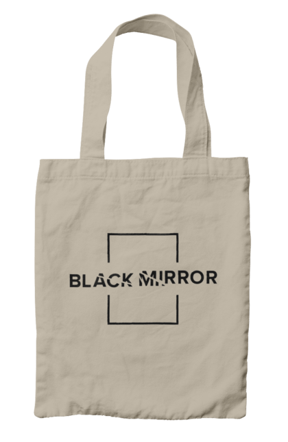 Сумка з принтом Чорне дзеркало. Нетфлікс, серіал, чорне дзеркало. CustomPrint.market