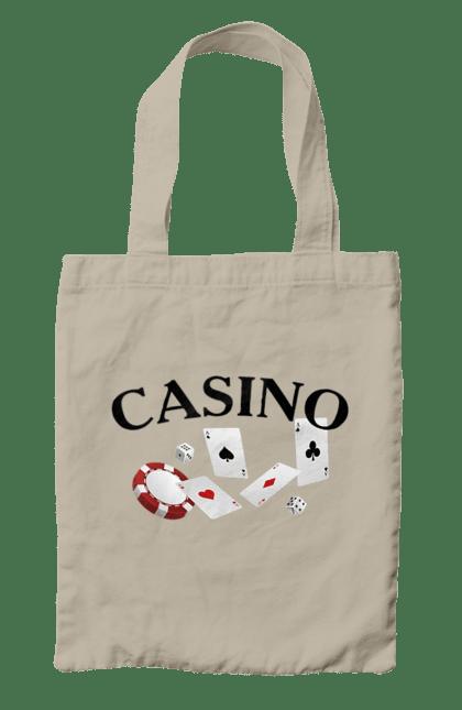 Сумка з принтом Casino. Казино, карти, покер, фішки. CustomPrint.market