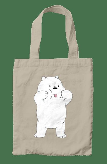 Сумка з принтом Ведмідь Показує Язика. Ведмідь, мова. CustomPrint.market