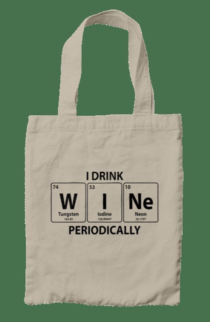 Сумка з принтом Вино Таблиця Менделєєва. Алкоголь, вино. CustomPrint.market