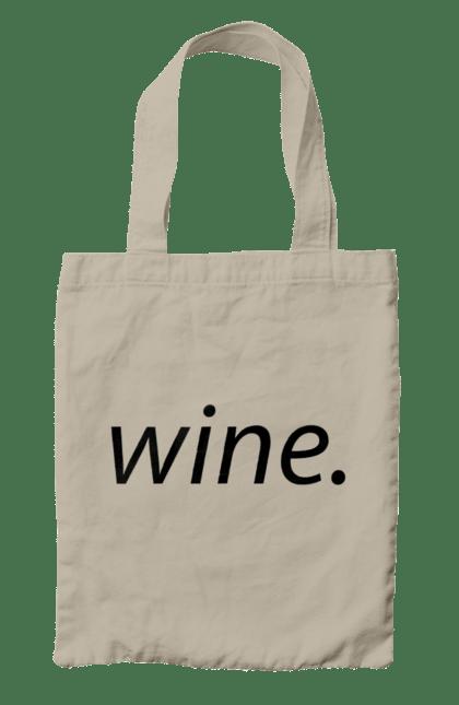 Сумка з принтом Вино. Алкоголь, вино, напис. CustomPrint.market