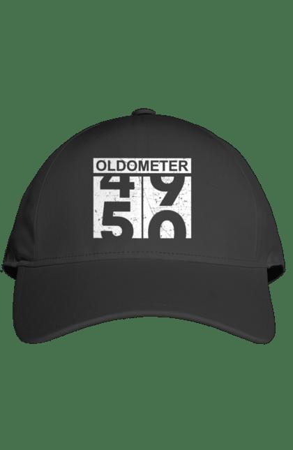 Кепка з принтом Oldometer 50 років. День народження, на подарунок, ювілей. CustomPrint.market