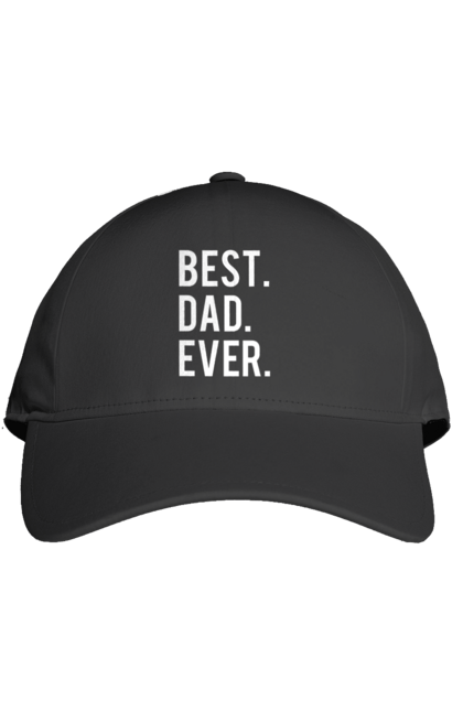 Кепка з принтом кращий тато. Батько, дочка, кращий, син. CustomPrint.market