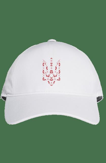 Кепка з принтом Тризуб вишиванка. Вишиванка, символіка, тризуб, україна. CustomPrint.market