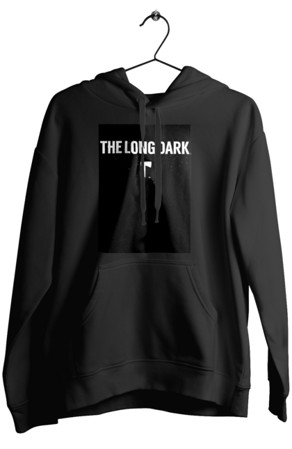 Жіноче худі з принтом The Long Dark. The Long Dark, атрибутика, игры, простое, черный цвет. CustomPrint.market