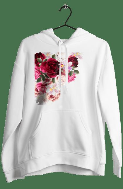 Жіноче худі з принтом Збірник Квітів. Квіти, квітка, півонія, фіалка. CustomPrint.market