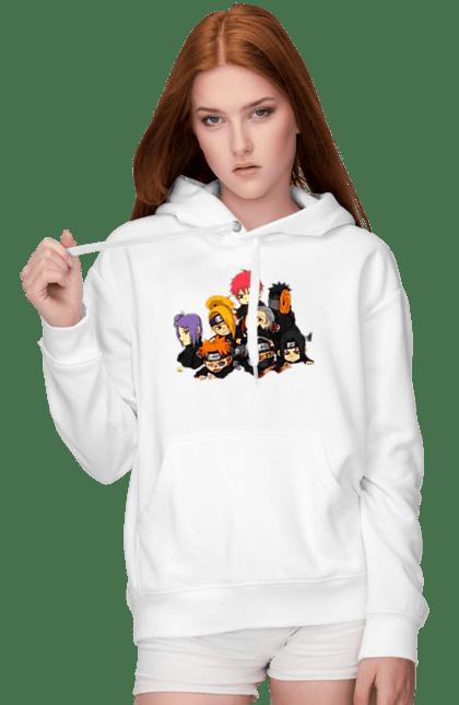 Жіноче худі з принтом Акацуки Чиби 1.1. Акацуки, Аниме, итачи, подарок, саске. CustomPrint.market
