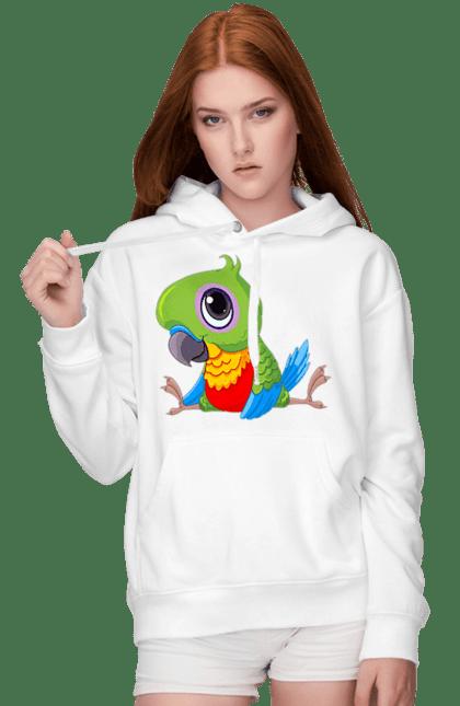 Жіноче худі з принтом Папужка